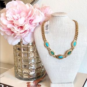 Laundry By Shelli Segal Gold & Turqoise Necklace